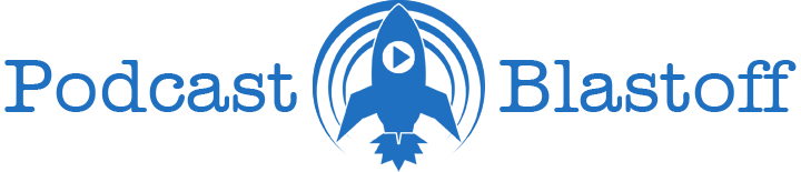 podcast blastoff logo